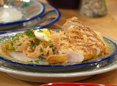 http://www.rachaelrayshow.com/food/recipes/deviled-chicken-deviled-egg-and-potato-salad/    looks yummy and I am trying it out for dinner tonight.  :)