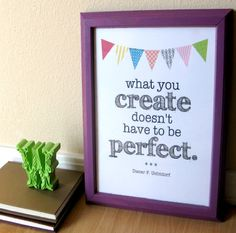 Create Quote Printable Decor -for craft room