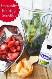 Immunity Boosting Smoothie Recipe #smoothie #immunityboosting #recipes