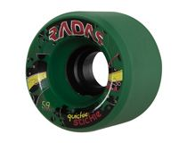 Quickie Stick  Size: 42mm x 59mm Hub: Reinforced Urethane Micro Hub Hardness: Black 91A, Green 93A, Red 95A  $69.95 Skate Wheels, Green, Black, Black People
