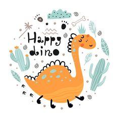 Dinosaur Illustration, Graphic Design Illustration, Graphic Illustration, Brave Wallpaper, Kids Room Wallpaper, Die Dinos Baby, Baby Dinosaurs, Cartoon Dinosaur, Dinosaur Funny