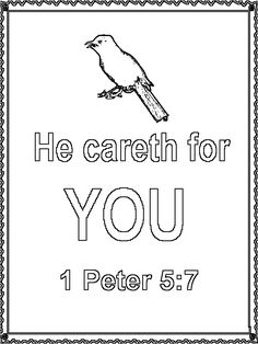 Unit 31 Matthew 6 2526 coloring page Homeschool