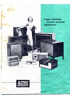 Border Studies is a haphazard collection of visual inspiration and notes from Samantha Culp, a. Big Speakers, Altec Lansing, Antique Radio, Music System, Record Players, Vacuum Tube, Audio Equipment, Audiophile, Vintage Ads