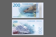 New banknotes for Norges Bank designed by The Metric System