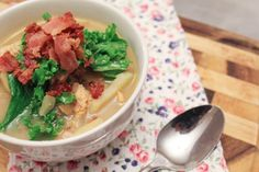 Olive Garden's Zuppa Toscana Soup Re-Created! Only 200 calories per serving! Posted on hellogiggles.com