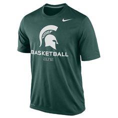 3384bb8761a3 New NWT Michigan State Spartans Basketball Nike Elite Green Dri-Fit Medium  T-Shirt