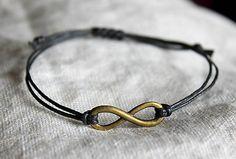 malystrom / náramok Infinity, Boho, Bracelets, Leather, Jewelry, Bangles, Jewellery Making, Infinite, Arm Bracelets