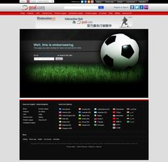goal.com 404 Error Page - Well, this is embarrassing. Error Page, Premier League, Goal, Advertising, Wellness, The Unit