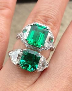 Emerald rings from Pricescope