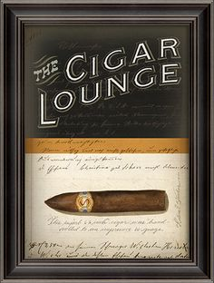 The Cigar Lounge - Framed Graphic Print.