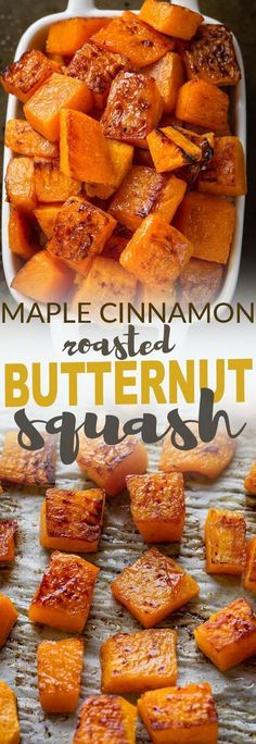 Best No Cost Maple Cinnamon Roasted Butternut Squash makes an easy, healthy & delicious side . Thoughts Maple Cinnamon Roasted Butternut Squash makes an easy, healthy & delicious side dish perfect for Th Best Thanksgiving Recipes, Thanksgiving Cakes, Easy Thanksgiving Sides, Autumn Food Recipes, Easter Recipes, Thanksgiving Vegetables, Vegitarian Thanksgiving Recipes, Traditional Thanksgiving Food, Easy Thanksgiving Appetizers