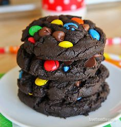 "If you love rich, chewy, chocolatey cookies that are packed full of ""stuff"", then you will love these delicious M&M Chocolate Cookies. You can whip these cookies up quickly and easily, but they may disappear..."