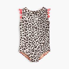 56ead80ab09c6 Crew Girls  flutter-sleeve one-piece swimsuit in leopard
