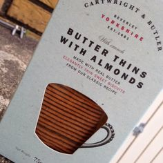 """Cartwright & Butler - """"Butter Thins with almonds"""""""