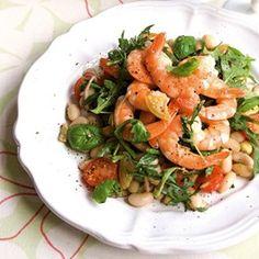 Prawns with Cannelleni Bean Salad