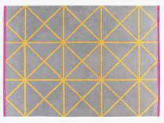 GRID MULTI-COLOURED Wool Large geometric patterned wool rug 170 x 240cm - HabitatUK