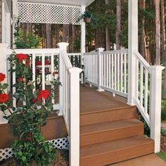 PVC/Composite Rail Kit In White SEC14 RW R13 KD   The Home Depot | Becca  Curb Appeal | Pinterest | Verandas, Regency And Porch