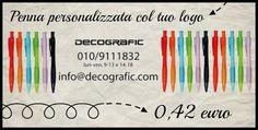 La penna biro, il più classico dei #gadget promozionali, rivisitato con i colori dell'estate! http://www.decografic.com