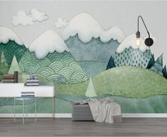 Assorted Kids Nursery Colorful Cartoon Art Waterproof Wall Murals - K