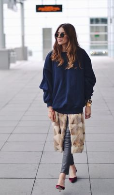 Maja Wyh wearing the L8007 Leather Legging in Black. #JBRAND