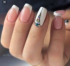 47 Stunning Short Square Nails Summer Design For Manicure Nails - Page 2 of 47 44 Frensh Nails, Nail Manicure, Diy Nails, Hair And Nails, Glitter Nails, Colorful Nail Designs, Nail Art Designs, Nails Design, Design Design