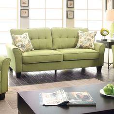 Furniture Of America Claire Green Sofa - CM6266GR- SF