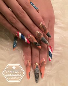 My Nails for Nail Art competition 2017. 6th places. My theme was Thailand.