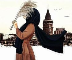 149 images about hijab art on We Heart It Hijab Anime, Anime Muslim, Hijabi Girl, Girl Hijab, Girl Cartoon, Cartoon Art, Islamic Cartoon, Islam Women, Hijab Cartoon
