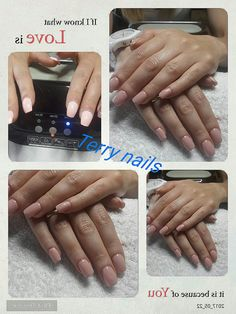 Terry nails#refil#gel#color#nude#semplici#semplici#valentina
