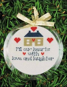 Yarn Tree Christmas Ornament Frame - Round - 123Stitch.com