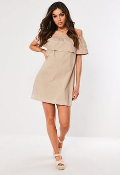 Order today & shop it like it's hot at Missguided. Going Out Dresses, Cute Dresses, Prom Dresses, Formal Dresses, Gold Strappy Heels, Missguided, Poplin, No Frills