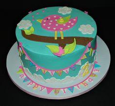 Birdy Bunting Cake