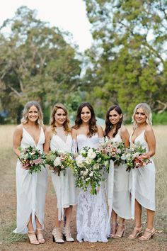 White bridesmaids dresses are getting more and more popular. Will you have white bridesmaids dresses at your wedding?