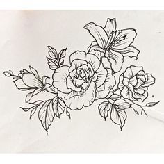 Flowers tattoo scketch by Ana Maturana