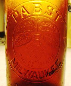 Antique Pabst Beer Bottle Amber Glass SB&G Co. Milwaukee Crown Top 1890 in Collectibles, Bottles & Insulators, Bottles   eBay