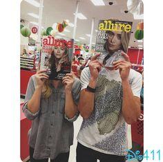 Photo: Olivia Holt With Austin North At Target December 11, 2013