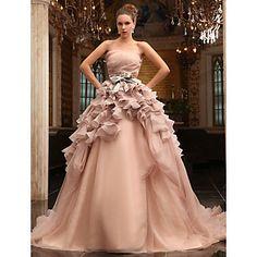 HARMONIA - Vestido de Novia de Satén y Tul – USD $999.99