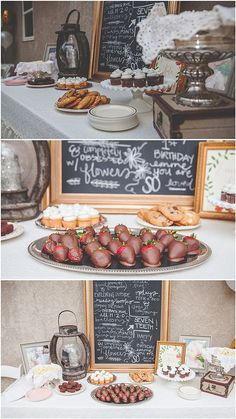 Lots of sweets were on hand to celebrate, and everyone relaxed and enjoyed watching their favorite 1-year-old experience her very first party. Source: Rochelle Wilhelms Photography via Pretty My Party