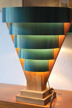 Awesome Mid Century Modern TV Lamp Skyscraper Style | eBay