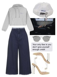 """""""Untitled #575"""" by chandele ❤ liked on Polyvore featuring Vetements, Calvin Klein, adidas Originals and Linda Farrow"""