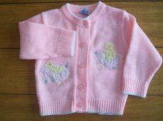 Vintage Baby Crest infant / toddler sweater, 1950's - 1960's.