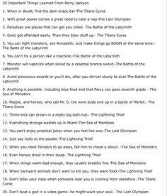 20 things Percy Jackson taught me