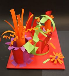 paper sculpture- Who needs homeschool curriculum when you've got PINTERST???