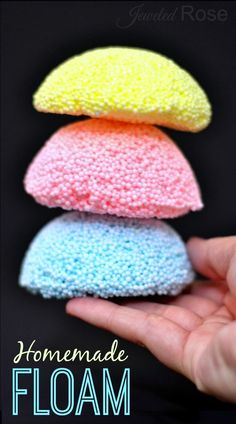How To Make Homemade Floam. Playing with floam is a fun way for kids to experience texture and making it ithemselves is SO FUN! Much cheaper than store bought, too!