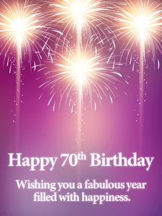 Send Free Pink Happy Birthday Fireworks Card to Loved Ones on Birthday & Greeting Cards by Davia. It's free, and you also can use your own customized birthday calendar and birthday reminders. Happy Birthday Quotes For Her, Funny Happy Birthday Wishes, Birthday Greeting Cards, Birthday Greetings, 70th Birthday, Birthday Celebration, African American Birthday Cards, Birthday Special Friend, Birthday Fireworks