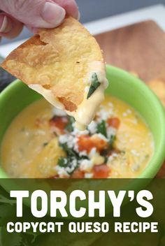 Torchy's Tacos Queso Dip- the original copycat recipe. This easy queso dip recipe is a crowd favorite and perfect for your next party.