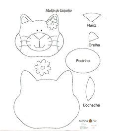 """Artesanato e Cia : Molde """"gatinho"""""""