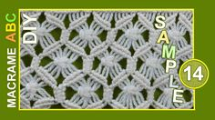 From this pattern you can make a scarf, clothing decoration or something another. Macrame design elements for various useful macrame projects. See more patterns: http://www.youtube.com/playlist?list=PLvEwzzlTrsR-ZYluK40H-aqHr0JXeeIm1