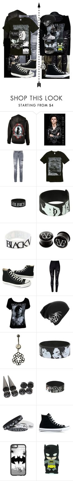 """""""He and She BVB couple goals"""" by shaya-bvb-4-life ❤ liked on Polyvore featuring AMIRI, Converse and Casetify"""