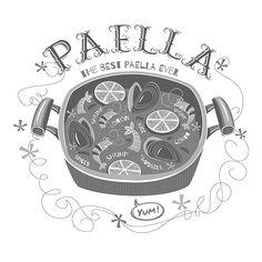 Paella, vector illustration. on Behance